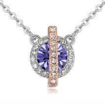 Vibrant Hope  - Swarovski kristályos nyaklánc - lila