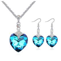 Graceful heart - színjátszó kék - Swarovski kristályos ékszerszett