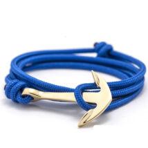 Anchorissime - Anchor horgony karkötő - arany - királykék kötél