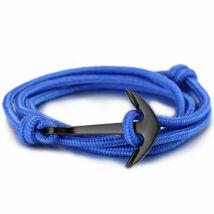 Anchorissime - Anchor horgony karkötő - fekete- kék kötél