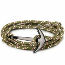 Anchorissime - Anchor horgony karkötő - fekete- zöld kötél