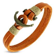 Anchorissime - Anchor horgony karkötő - réz- narancsszín valódi bőr
