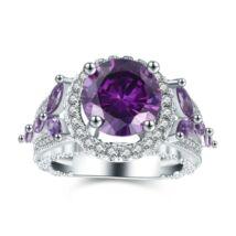 Odetta - cirkóniaköves divatgyűrű - lila