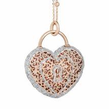 Boccadamo Jewels - bronz nyaklánc - Alissa - arany -ezüst - szív