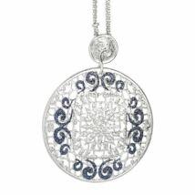 Boccadamo Jewels - bronz kerek medálos nyaklánc - Alissa - kék-ezüst