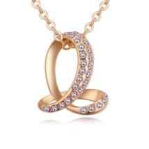 Bent snake- fehér -arany kristályos nyaklánc