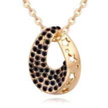 Star hole - fekete - Swarovski kristályos nyaklánc
