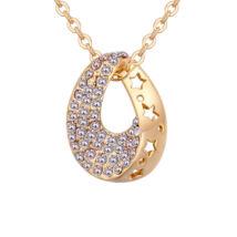 Star hole -színjátszófehér - Swarovski kristályos nyaklánc