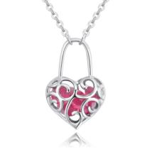 Szerelemlakat - Swarovski kristályos nyaklánc - rózsaszín