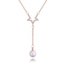 Csillagpor- arany- kristályos nyaklánc