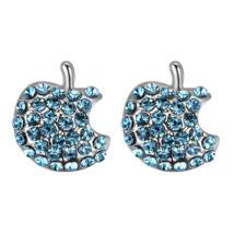 Apples - kék- Swarovski kristályos fülbevaló
