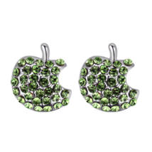 Apples - zöld - Swarovski kristályos fülbevaló