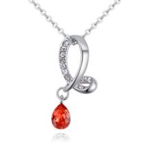 Droplet - piros - Swarovski kristályos nyaklánc