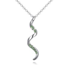 Spiralis - zöld - Swarovski kristályos nyaklánc