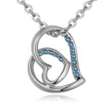 Hédi- Swarovski kristályos nyaklánc - világoskék