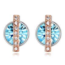 Vibrant hope - kék- Swarovski kristályos fülbevaló