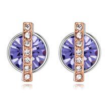 Vibrant hope - lila- Swarovski kristályos fülbevaló