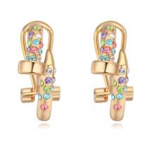 Arany kristály - színes- Swarovski kristályos fülbevaló