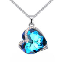 Amalita - Swarovski kristályos nyaklánc - színjátszó kék