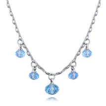 Colorful beads -Swarovski kristályos - nyaklánc - kék