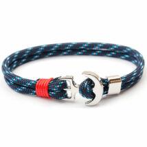 Anchorissime - Anchor horgony karkötő - piros dísz - dupla szálú sötétkék mintás kötéllel