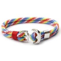 Anchorissime - Anchor horgony karkötő - piros dísz - dupla szálú színes mintás kötéllel