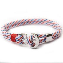 Anchorissime - Anchor horgony karkötő - piros dísz - dupla szálú fehér mintás kötéllel