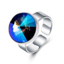 Éber szemek - állítható méretű Swarovski kristályos gyűrű - Paradise Shine - kék