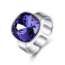 Ékkő - állítható méretű Swarovski kristályos gyűrű - Purple velvet - lila