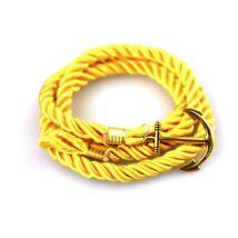 Anchorissime - Anchor horgony karkötő - arany - sárga kötéllel