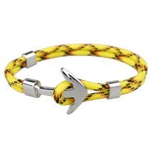 Anchorissime - Anchor horgony karkötő - ezüst- sárga mintás kötéllel