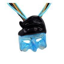 Mask - Muránói üveg medál - kék