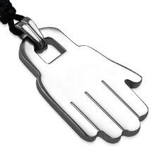 A kéz - nemesacél medál kord nyakláncon
