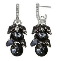 Grape-Swarovski kristályos fülbevaló - fekete
