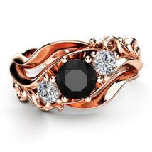 Queen -  cirkóniaköves divatgyűrű - fekete