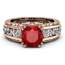 Adrina-  cirkóniaköves divatgyűrű-piros
