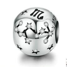 Horoszkóp Ezüst charm - SKORPIÓ - fehér