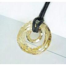 Napfény - Swarovski kristályos - Medál - borostyán