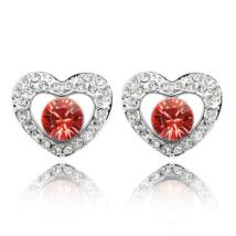Cor stone- Swarovski kristályos - Fülbevaló-piros