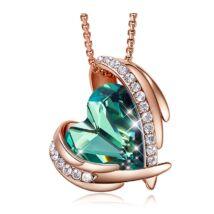 Green Angel- Swarovski kristályos nyaklánc-zöld-arany