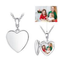 Fotó-medál készítés egyedi képpel - kinyitható szív, 925 ezüstből