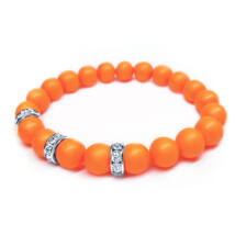 Swarovski gyöngy karkötő - Neon Orange - narancs