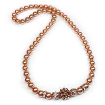 Swarovski gyöngy nyaklánc- Rose Gold - arany