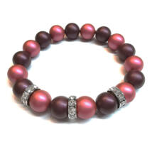 Swarovski kristályos gyöngy karkötő  -  Elderberry, Mulberry