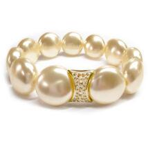 Swarovski gyöngy karkötő - Coin Pearl