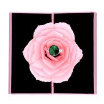 Piros rózsa gyűrűtartó - rózsaszín díszdobozban
