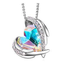 Rainbow Angel- Swarovski kristályos nyaklánc-színjátszó-ezüst