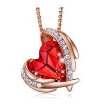 Red Angel- Swarovski kristályos nyaklánc-piros-arany