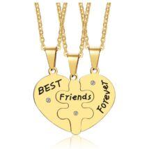 Best Friends Forever - páros acél nyaklánc-3 Barát