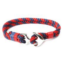 Anchorissime - Anchor horgony karkötő - ezüst- piros-kék kötéllel